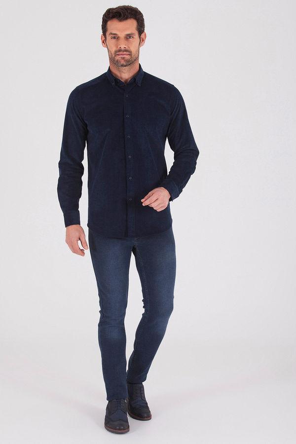 Hatem Saykı - Slim Fit Lacivert Gömlek (1)
