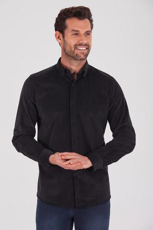 Hatem Saykı - Slim Fit Siyah Gömlek