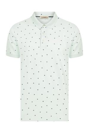 Hatemoğlu - Açık Yeşil Baskılı Polo Yaka Tişört