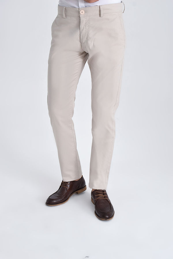 HATEM SAYKI - Taş Desenli Slim Fit Pantolon