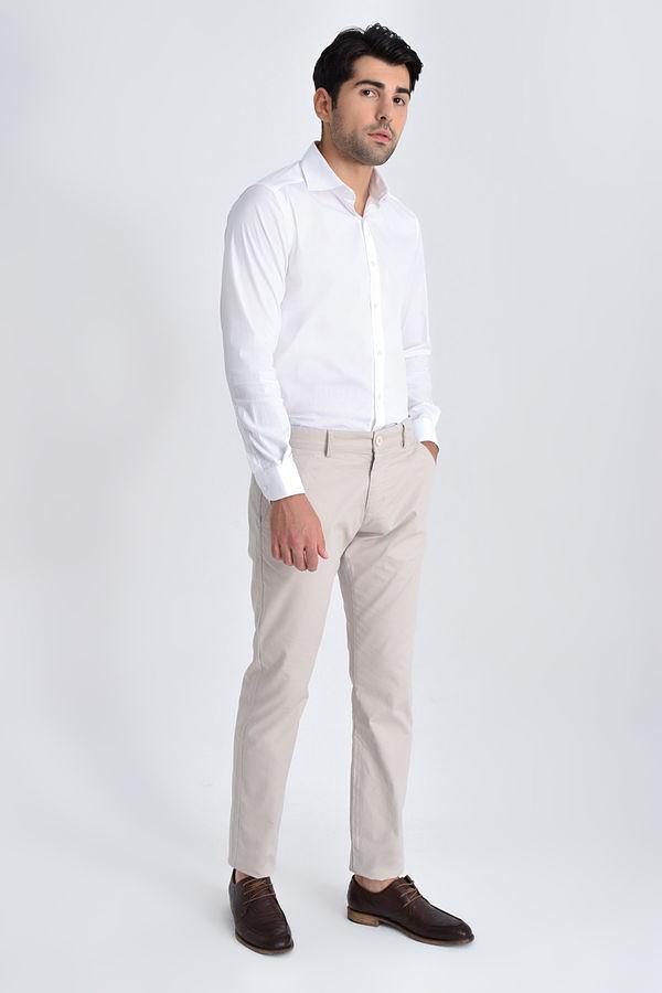 HATEM SAYKI - Taş Desenli Slim Fit Pantolon (1)