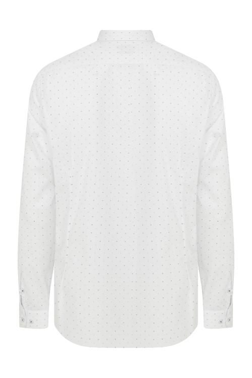 Hatemoğlu - Slim Fit Desenli Beyaz Spor Gömlek (1)