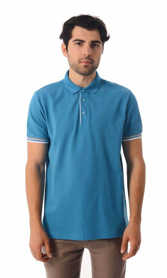 HATEMOĞLU - Turkuaz - Desenli Regular T-shirt