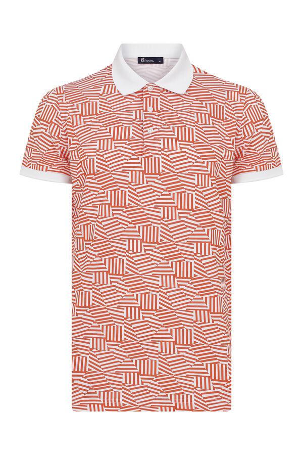 HTML - Turuncu Desenli Polo Yaka Tişört