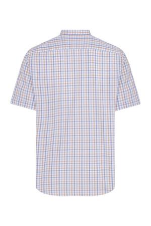 Hatemoğlu - Kısa Kol Turuncu Kareli Klasik Gömlek (1)