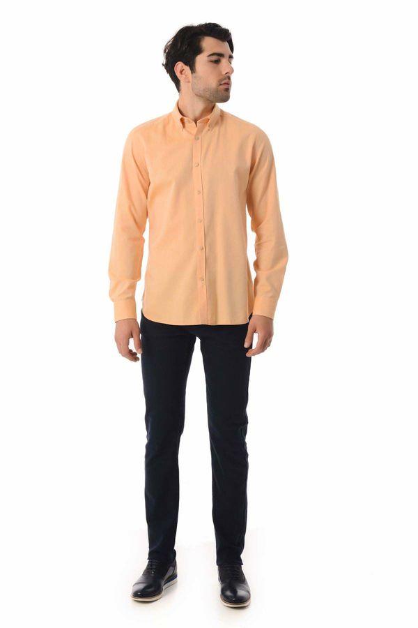 HTML - Turuncu Slim Fit Gömlek (1)