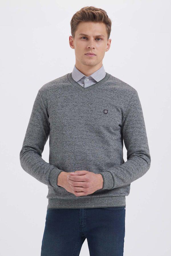 Gri V Yaka Sweatshirt