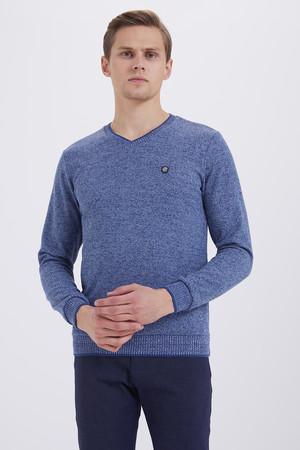 HTML - İndigo V Yaka Sweatshirt