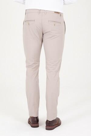 Bej Slim Fit Yandan Cep Pantolon - Thumbnail