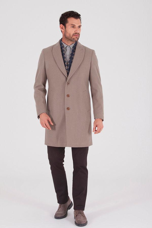 Hatem Saykı - Vizon Ceket Yaka Yünlü Palto (1)