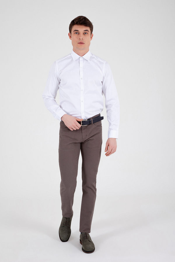 Hatem Saykı - Vizon Desenli Slim Fit Pantolon (1)