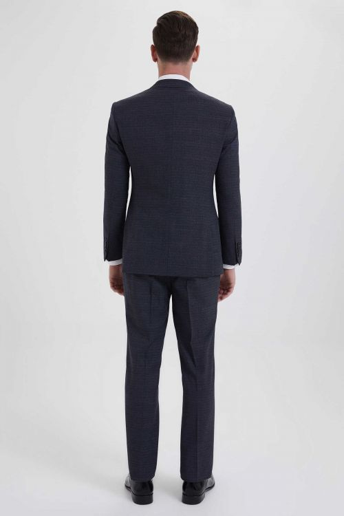 Yelekli Slim Fit Antrasit Takım Elbise