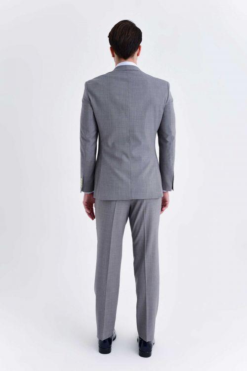 Yelekli Slim Fit Gri Takım Elbise