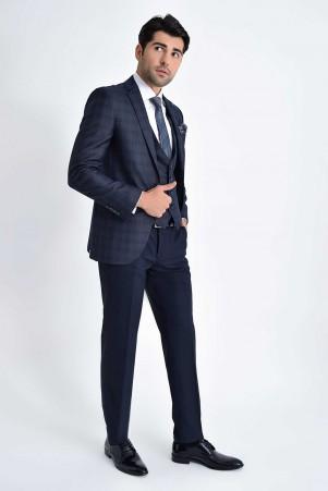 Hatemoğlu - Yelekli Slim Fit Lacivert Takım Elbise (1)