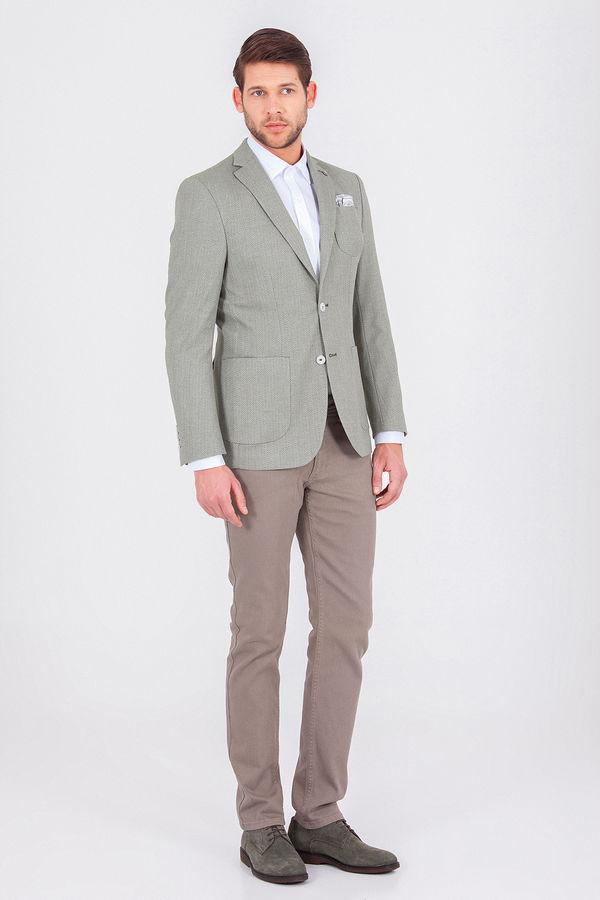 Hatemoğlu - Yeşil Desenli Dinamik Ceket (1)