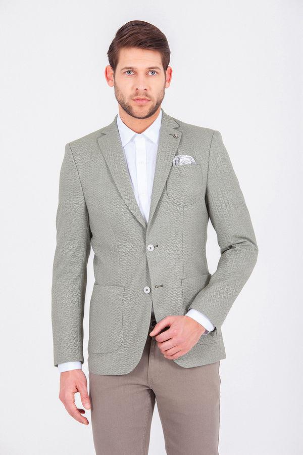 Hatemoğlu - Yeşil Desenli Dinamik Ceket
