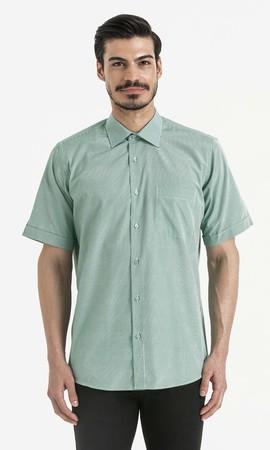 Hatemoğlu - Kareli Klasik Yeşil Gömlek