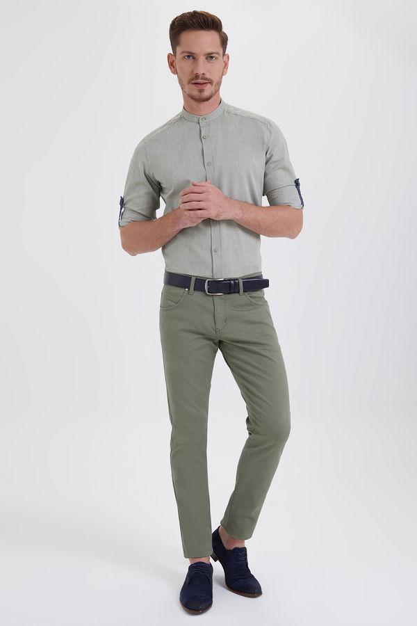 Hatem Saykı - Yeşil Petek Slim Fit Pantolon (1)