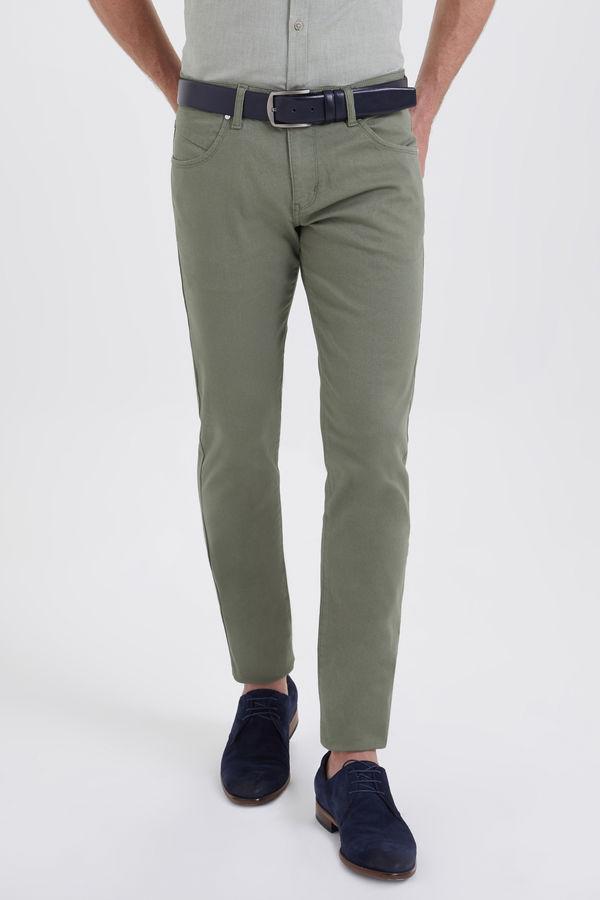 Hatem Saykı - Yeşil Petek Slim Fit Pantolon