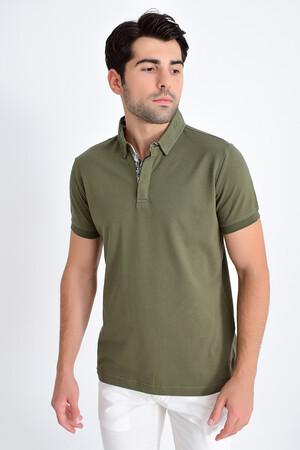Yeşil Polo Yaka Tişört - Thumbnail
