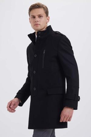 Hatem Saykı - Yünlü Siyah Palto
